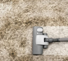Regularly vacuum your carpet in the Winter