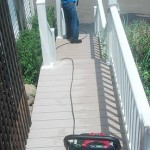 Power Washing a Deck in Clinton CT