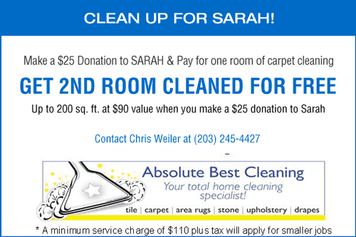 Coupon for cleaning up for SARAH Family of Agencies in CT