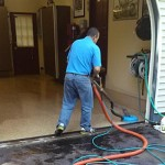 Cleaning an Epoxy Garage floor in Madison CT